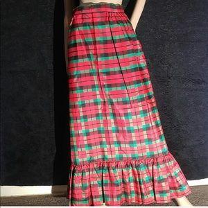 Holiday Plaid Maxi Skirt